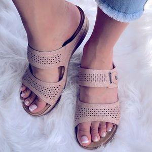 Italina Pinky Beach Euro Comfort Wedge Sandal